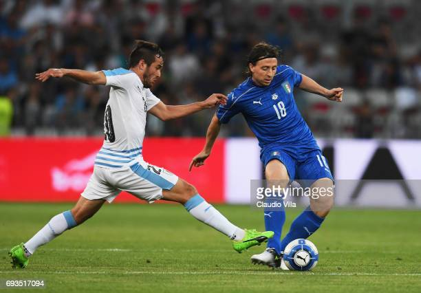Riccardo Montolivo of Italy in action during the International Friendly match between Italy v Uruguay on June 7 2017 in Nice France