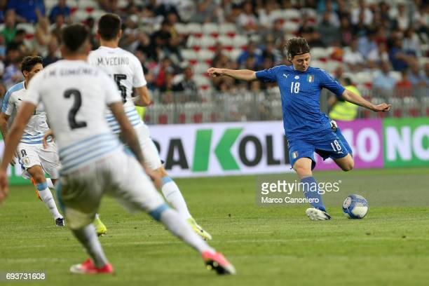 Riccardo Montolivo of Italy in action during the international friendly match between Italy and Uruguay Italy wins 30 over Uruguay