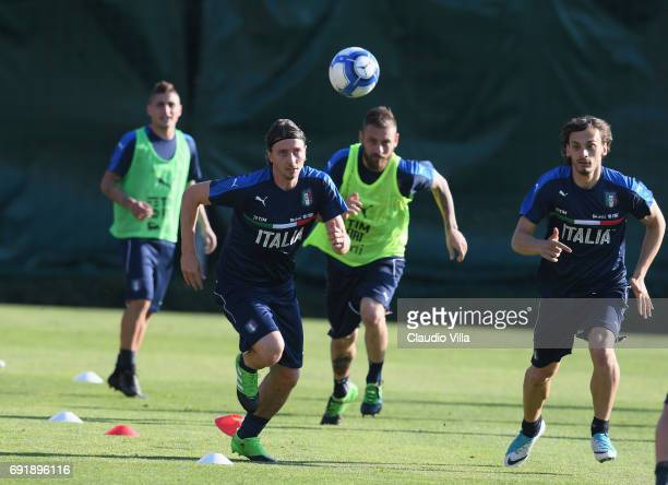 Riccardo Montolivo of Italy in action during the training session at Coverciano at Coverciano on June 03 2017 in Florence Italy