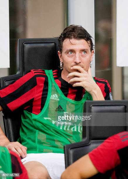 Riccardo Montolivo of Milan during the preliminaries of Europa League 2017/2018 match between Milan v Craiova in Milan on august 3 2017