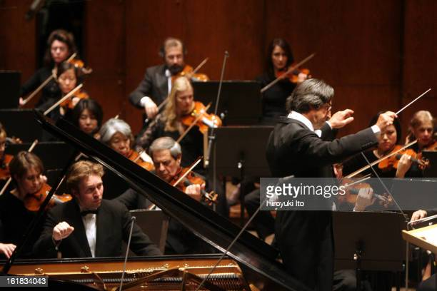 Riccardo Muti conducting the New York Philharmonic in Brahms's 'Concerto No 2 in Bflat major for Piano and Orchestra' with Leif Ove Andsnes as...