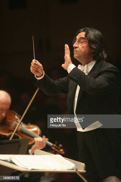 Riccardo Muti conducting the Vienna Philharmonic at Carnegie Hall on Friday night March 3 2006