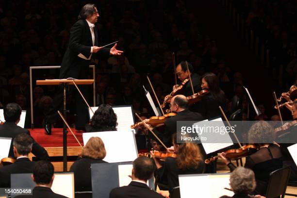 Riccardo Muti leading the Chicago Symphony Orchestra at Carnegie Hall on Thursday night October 4 2012This imageRiccardo Muti leading the Chicago...