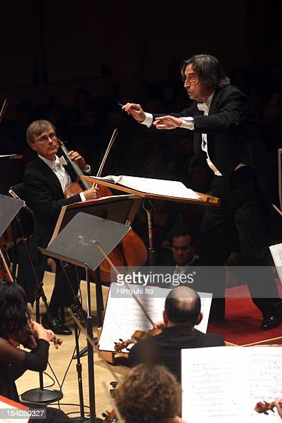 Riccardo Muti leading the Chicago Symphony Orchestra in Carl Off's 'Carmina Burana' at Carnegie Hall's opening gala concert on Wednesday night...