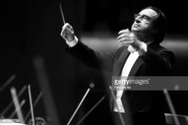 Riccardo Muti leading the New York Philharmonic in the program of Liszt Elgar and Prokofiev at Avery Fisher Hall on Thursday night November 19 2009