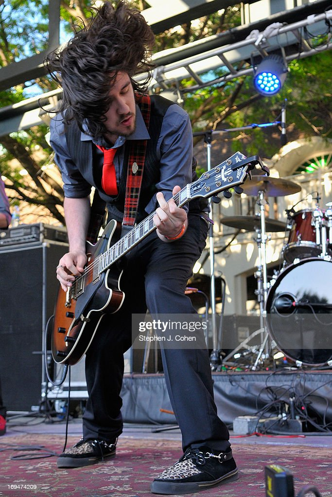 Riccardo Naldi of the Brothel Creepers performs during the Abbey Road on the River Music Festival at The Belvedere on May 24, 2013 in Louisville, Kentucky.