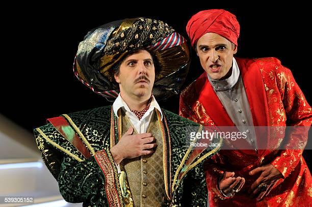 Riccardo Novaro as Taddeo and Quirijn de Lang as Mustafa in Garsington Opera's production of Gioachino Rossini's L'Italiana in Algeri directed by...