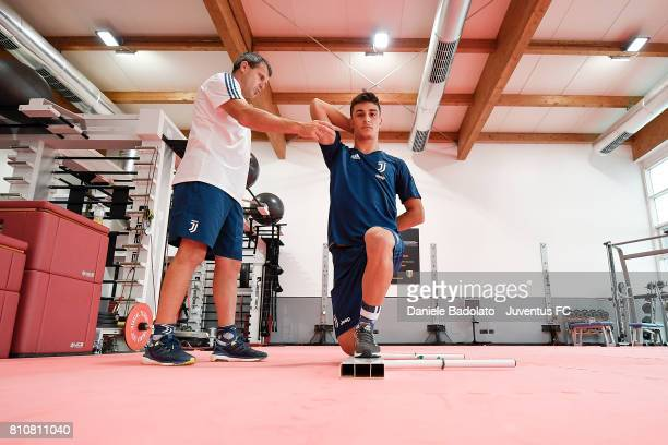 Riccardo Orsolini of Juventus during a training session on July 8 2017 in Vinovo Italy