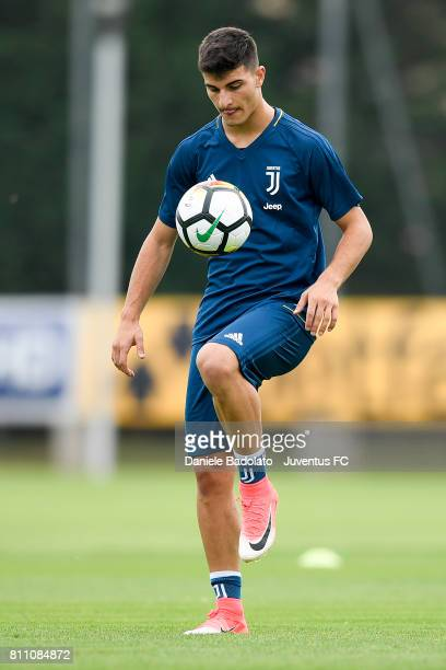 Riccardo Orsolini of Juventus during a training session on July 9 2017 in Vinovo Italy