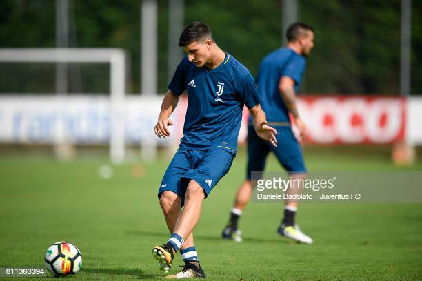 Riccardo Orsolini of Juventus during the afternoon training session on July 9 2017 in Vinovo Italy