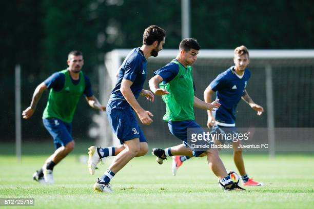 Riccardo Orsolini of Juventus during the afternoon training session on July 11 2017 in Vinovo Italy