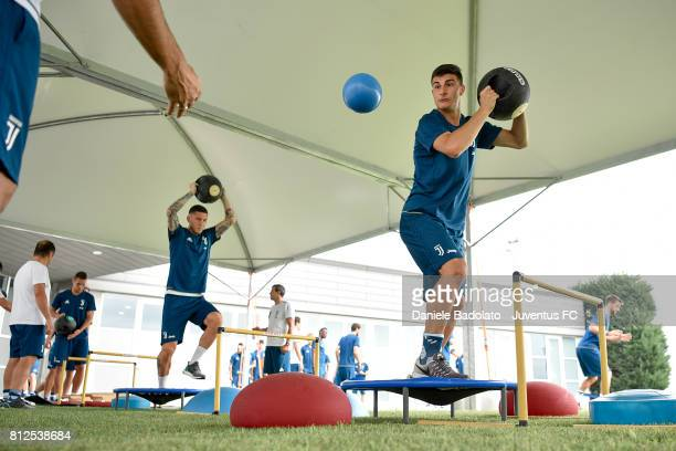 Riccardo Orsolini of Juventus during the morining training session on July 11 2017 in Vinovo Italy