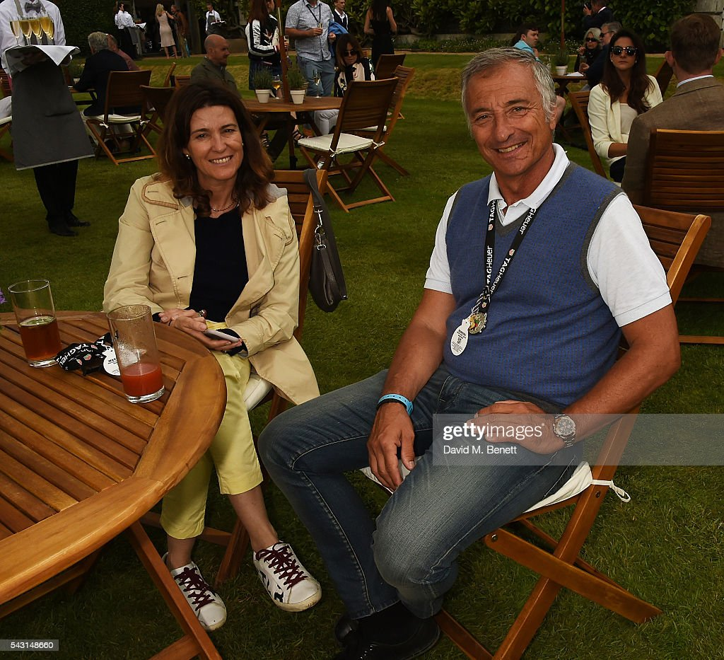 Riccardo Patrese and his wife attend The Cartier Style et Luxe at the Goodwood Festival of Speed at Goodwood on June 26, 2016 in Chichester, England.