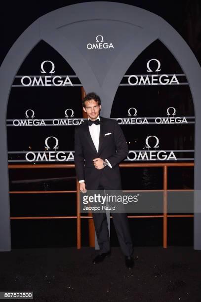 Riccardo Pozzoli attends the OMEGA Aqua Terra at Palazzo Pisani Moretta on October 28 2017 in Venice Italy