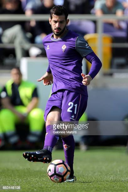 Riccardo Saponara of ACF Fiorentina during heating of the Serie A match between ACF Fiorentina and Cagliari Calcio at Stadio Artemio Franchi on March...