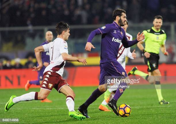 Riccardo Saponara of ACF Fiorentina in action during Italian Serie A soccer match between ACF Fiorentina and Torino FC at Stadio Artemio Franchi in...