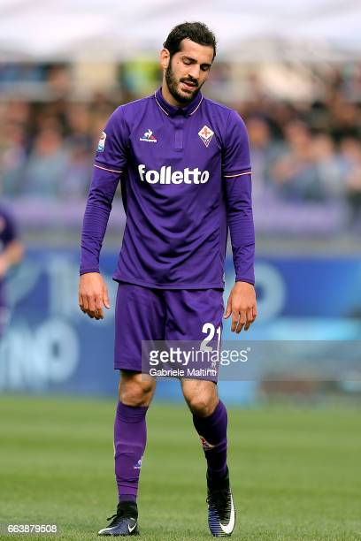 Riccardo Saponara of ACF Fiorentina reacts during the Serie A match between ACF Fiorentina and Bologna FC at Stadio Artemio Franchi on April 2 2017...