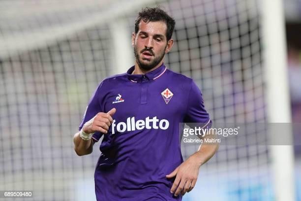 Riccardo Saponara of ACF Fiorentina reacts during the Serie A match between ACF Fiorentina and Pescara Calcio at Stadio Artemio Franchi on May 28...