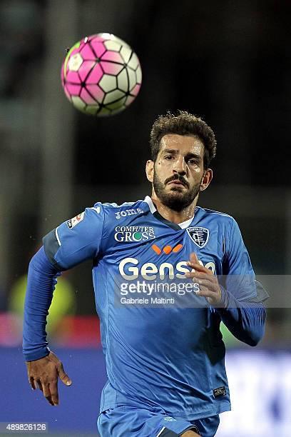 Riccardo Saponara of Empoli FC in action during the Serie A match between Empoli FC and Atalanta BC at Stadio Carlo Castellani on September 24 2015...