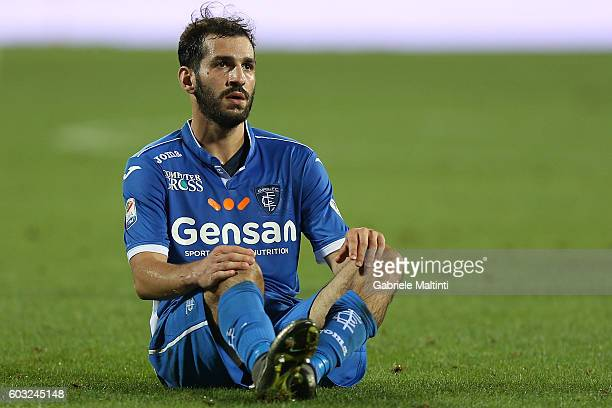 Riccardo Saponara of Empoli FC in action during the Serie A match between Empoli FC and FC Crotone at Stadio Carlo Castellani on September 12 2016 in...