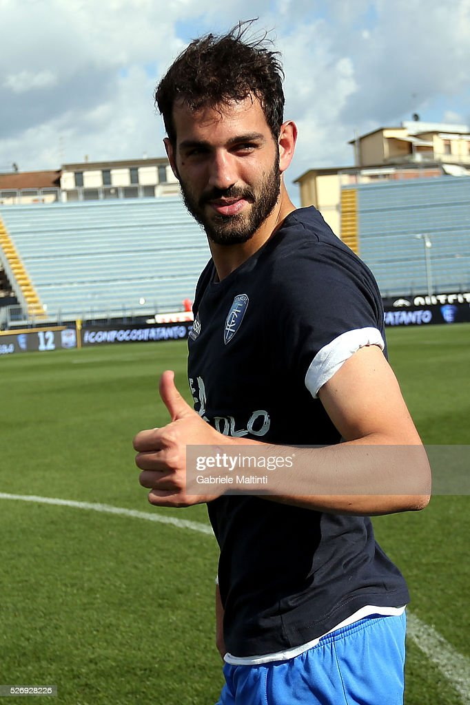 Riccardo Saponara of Empoli FC reacts during the Serie A match between Empoli FC and Bologna FC at Stadio Carlo Castellani on May 1, 2016 in Empoli, Italy.