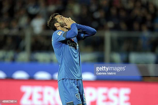 Riccardo Saponara of Empoli FC shows his dejection during the Serie A match between Empoli FC and Atalanta BC at Stadio Carlo Castellani on September...