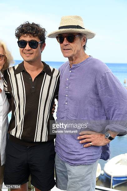 Riccardo Scamarcio and Jeremy Irons attends the 2016 Ischia Global Film Music Fest on July 14 2016 in Ischia Italy