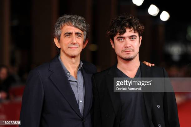 Riccardo Scamarcio and Sergio Rubini attend the 6th International Rome Film Festival at Auditorium Parco Della Musica on October 30 2011 in Rome Italy