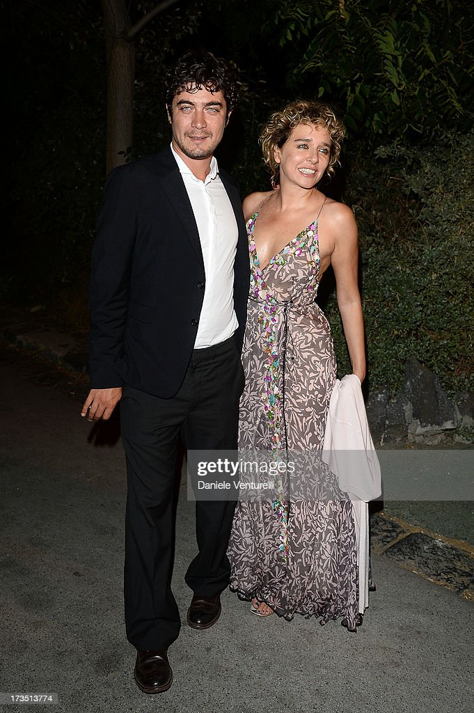 <a gi-track='captionPersonalityLinkClicked' href=/galleries/search?phrase=Riccardo+Scamarcio&family=editorial&specificpeople=816804 ng-click='$event.stopPropagation()'>Riccardo Scamarcio</a> and <a gi-track='captionPersonalityLinkClicked' href=/galleries/search?phrase=Valeria+Golino&family=editorial&specificpeople=676323 ng-click='$event.stopPropagation()'>Valeria Golino</a> attend the Day 3 of Ischia Global Fest 2013 on July 15, 2013 in Ischia, Italy.