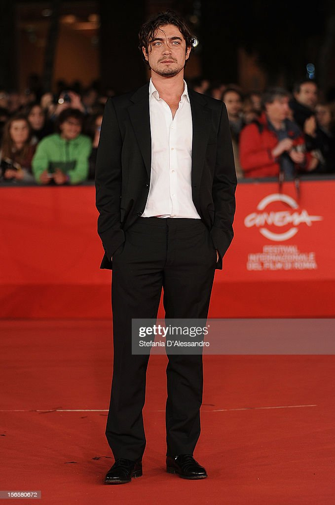 <a gi-track='captionPersonalityLinkClicked' href=/galleries/search?phrase=Riccardo+Scamarcio&family=editorial&specificpeople=816804 ng-click='$event.stopPropagation()'>Riccardo Scamarcio</a> attends 'Cosimo E Nicole' Premiere during The 7th Rome Film Festival on November 16, 2012 in Rome, Italy.