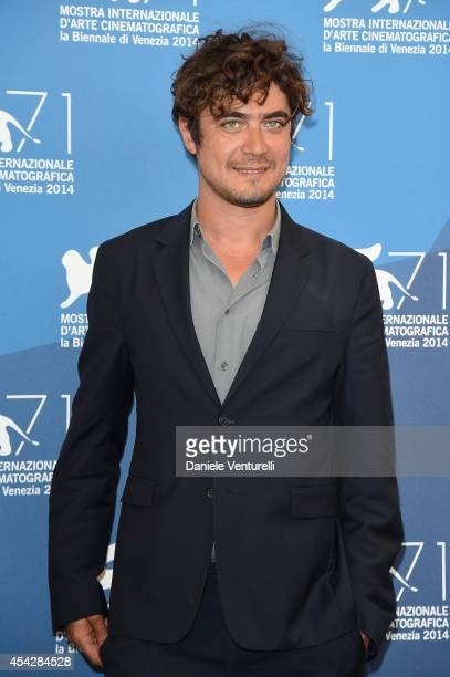Riccardo Scamarcio attends 'La Vita Oscena' Photocall during the 71st Venice Film Festival at Palazzo Del Casino on August 28 2014 in Venice Italy