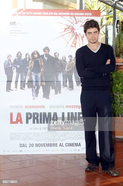 Riccardo Scamarcio attends the 'La Prima Linea' photocall at the Bernini Hotel on November 12 2009 in Rome Italy