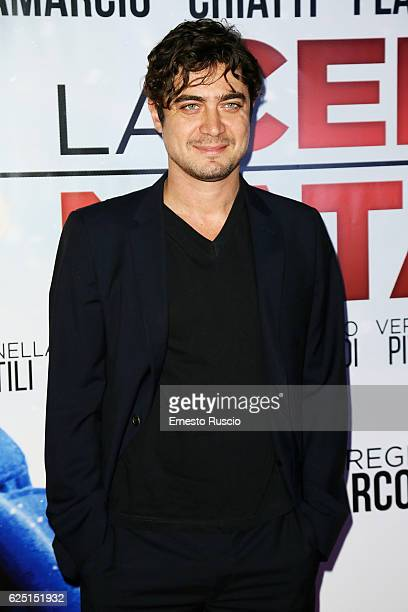 Riccardo Scamarcio walks a red carpet for 'La Cena Di Natale' at Cinema Adriano on November 22 2016 in Rome Italy