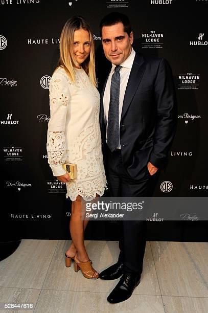 Riccardo Silva and Tatiana Silva attend the Haute Living Haute 100 Miami Celebration Presented By Hublot Dom Perignon And Prestige Imports at Faena...