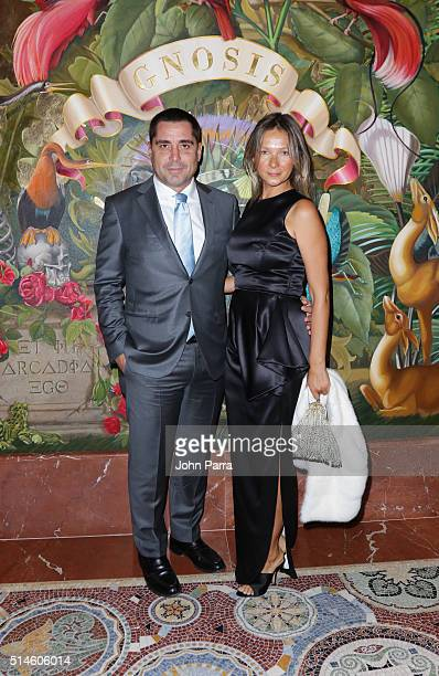 Riccardo Silva and Tatiana Silva attend the Krug Journey Miami at Faena Hotel on March 9 2016 in Miami Beach Florida