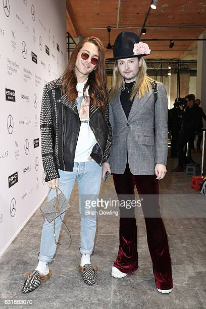 Riccardo Simonetti and Jack Strify attend the holyGhost show during the MercedesBenz Fashion Week Berlin A/W 2017 at Kaufhaus Jandorf on January 17...