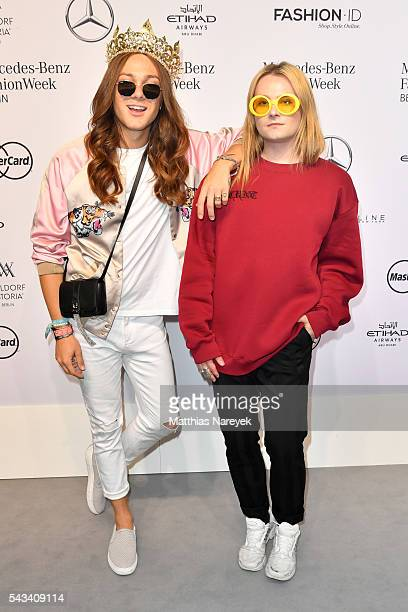 Riccardo Simonetti and Jack Strify attend the Thomas Hanisch show during the MercedesBenz Fashion Week Berlin Spring/Summer 2017 at Erika Hess...