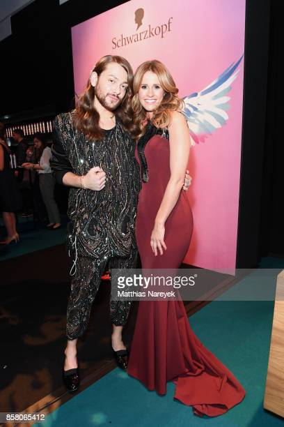 Riccardo Simonetti and Mareile Hoeppner attend the Tribute To Bambi after show party at Station on October 5 2017 in Berlin Germany