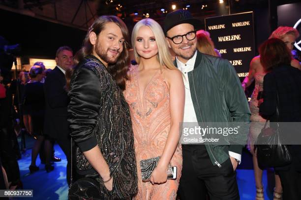 Riccardo Simonetti Anna Hiltrop and Armin Morbach during the 'Tribute To Bambi' gala at Station on October 5 2017 in Berlin Germany