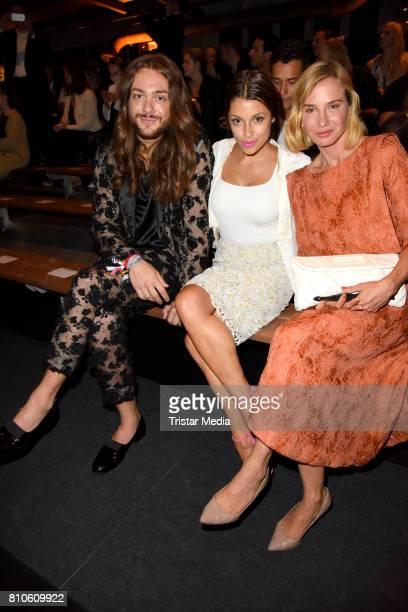Riccardo Simonetti Anna Julia Kapfelsperger and Nadeshda Brennicke attend the MICHALSKY StyleNite during the MercedesBenz Fashion Week Berlin...