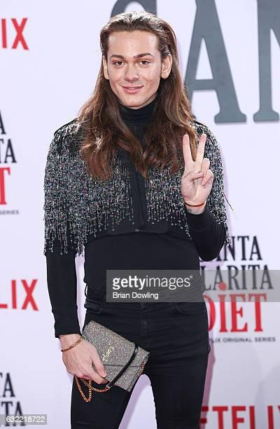 Riccardo Simonetti arrives at the premiere of Netflix's Santa Clarita Diet at CineStar on January 20 2017 in Berlin Germany