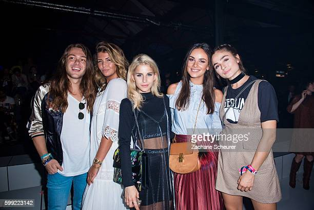 Riccardo Simonetti Farina Opoku Caro Daur Janina Uhse and Sofia Tsakiridou are seen at the Zalando fashion show during the Bread Butter by Zalando at...