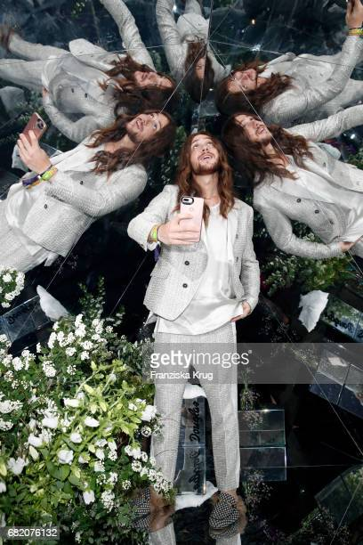 Riccardo Simonetti poses at the Douglas booth during the Duftstars at Kraftwerk Mitte on May 11 2017 in Berlin Germany