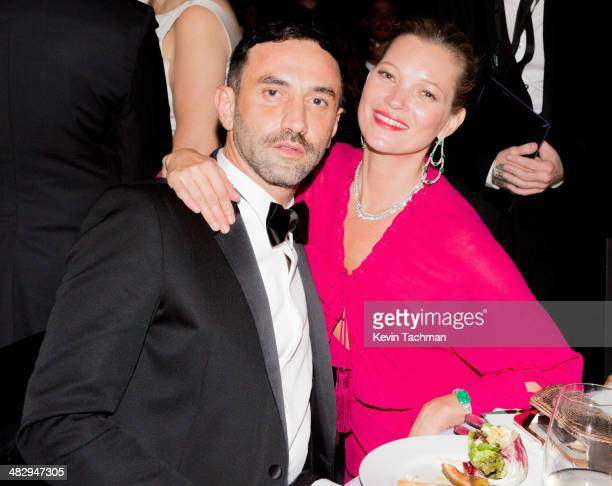 Riccardo Tisci and Kate Moss attend the 2014 amfAR's Inspiration Gala Sao Paulo at The Home of Dinho Diniz on April 4 2014 in Sao Paulo Brazil