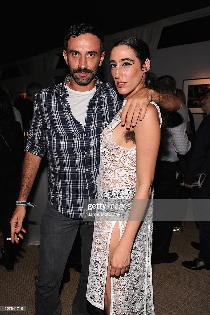 <a gi-track='captionPersonalityLinkClicked' href=/galleries/search?phrase=Riccardo+Tisci&family=editorial&specificpeople=2214975 ng-click='$event.stopPropagation()'>Riccardo Tisci</a> and Ladyfag attend the amfAR Inspiration Miami Beach Party at Soho Beach House on December 6, 2012 in Miami Beach, Florida.