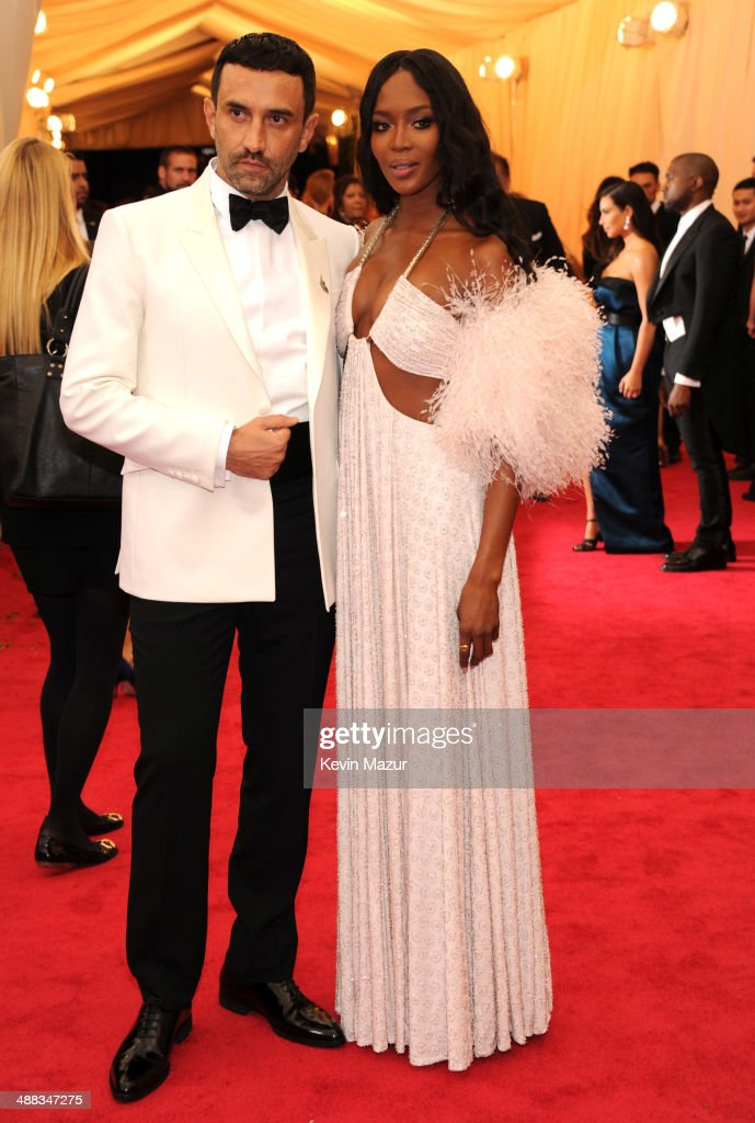 Riccardo Tisci and Naomi Campbell attend the 'Charles James: Beyond Fashion' Costume Institute Gala at the Metropolitan Museum of Art on May 5, 2014 in New York City.