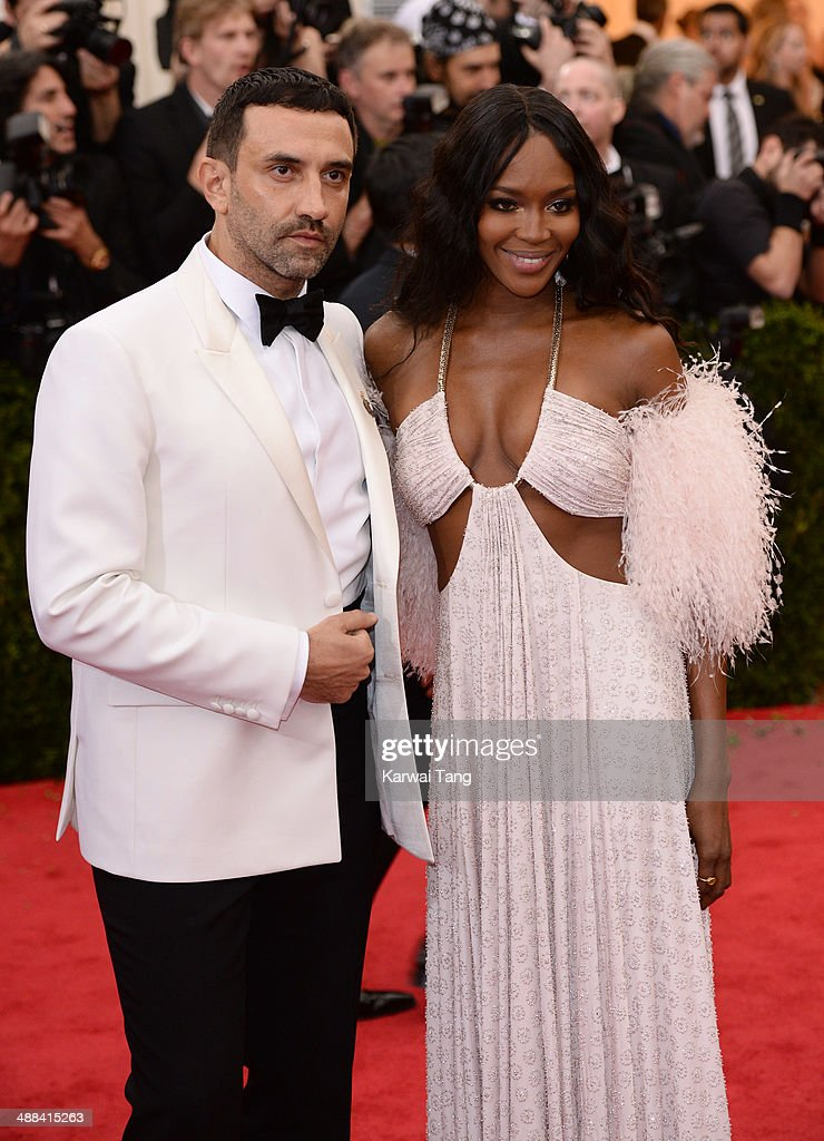 Riccardo Tisci and Naomi Campbell attend the 'Charles James: Beyond Fashion' Costume Institute Gala held at the Metropolitan Museum of Art on May 5, 2014 in New York City.