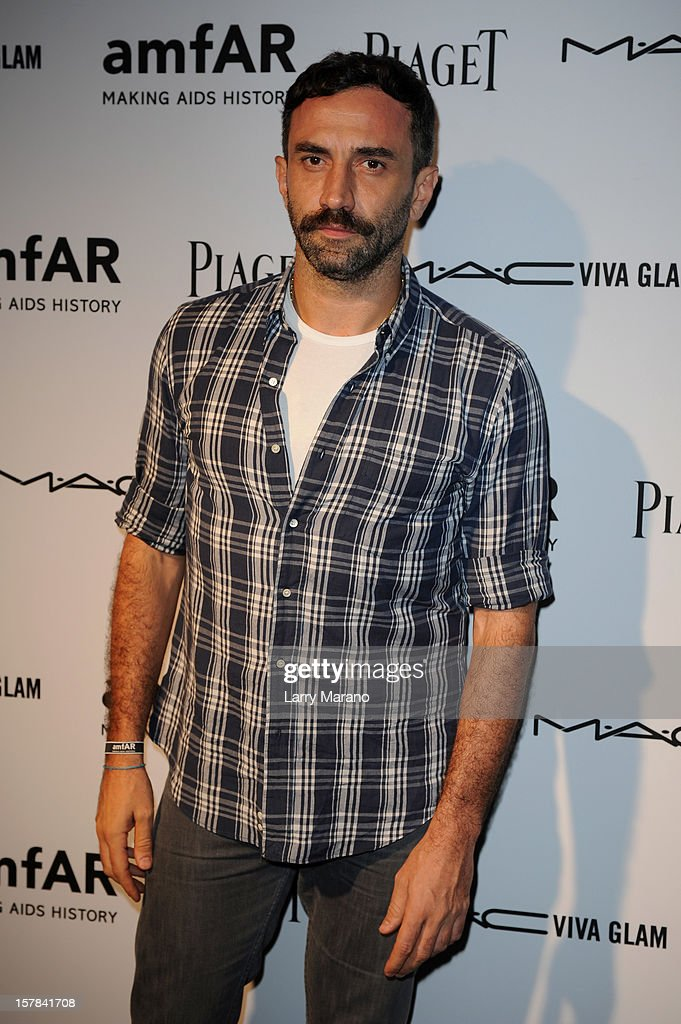 Riccardo Tisci attends the amfAR Inspiration Miami Beach Party at Soho Beach House on December 6, 2012 in Miami Beach, Florida.