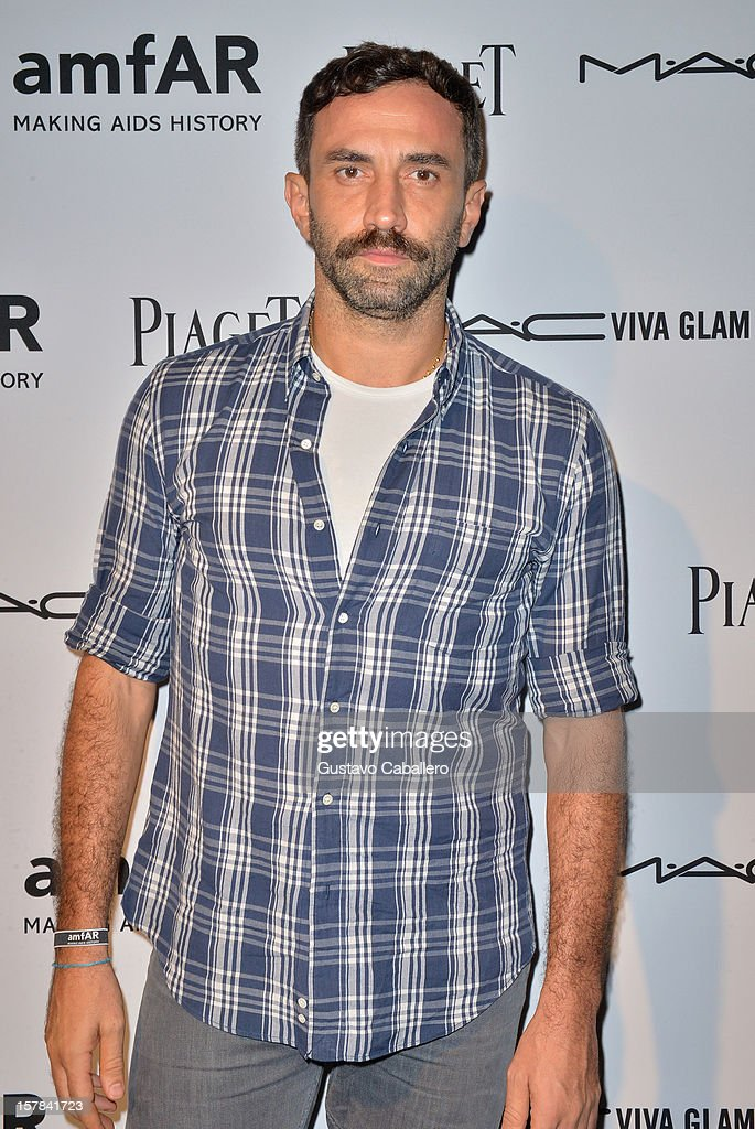 <a gi-track='captionPersonalityLinkClicked' href=/galleries/search?phrase=Riccardo+Tisci&family=editorial&specificpeople=2214975 ng-click='$event.stopPropagation()'>Riccardo Tisci</a> attends the amfAR Inspiration Miami Beach Party at Soho Beach House on December 6, 2012 in Miami Beach, Florida.