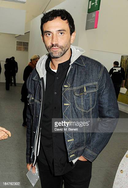 Riccardo Tisci attends the VIP preview of the annual Frieze Art Fair in Regent's Park on October 16 2013 in London England